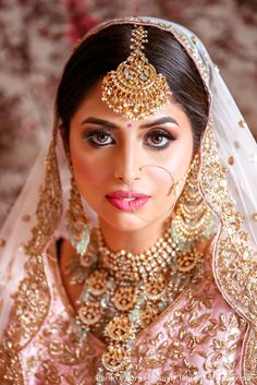 bridal makeup , bridal makeup ideas , bridal makeup images , bridal makeup brides , bridal makeup indian wedding , bridal makeup inspirations Bridal Makeup Images, Indian Bridal Makeup, Indian Bridal Fashion, Bridal Jewellery, Bridal Necklace, Bridal Make Up, Bridal Looks, Different Shades Of Pink, Wedding Function