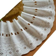 Amazon.com: 4-3/4 Inch Wide Eyelet Cotton Embroidered Lace Trims For Garment and DIY Decoration Pack of 14 yards