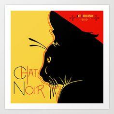 Chat Noir Art Print by Ant Errickson - $33.28
