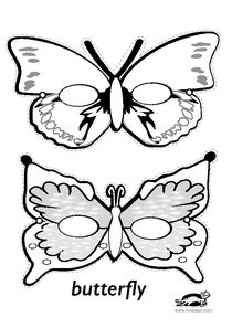 printables for kids Butterfly Costume, Butterfly Mask, Butterfly Party, Butterfly Crafts, Bunny Crafts, Dyi Crafts, Adult Crafts, Crown Crafts, Animal Face Mask