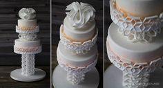 3D Printed Wedding Cake Support Lattice