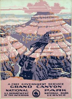 Grand Canyon National Park Vintage Poster