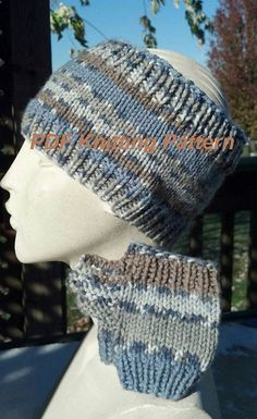 PDF Knitting Pattern for Handwarmer Mitts and by Shelleden on Etsy, $3.99