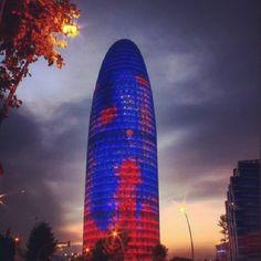 Torre Agbar by @barcelona_barcelona