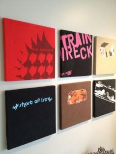 A friend on facebook had a very creative way to display old band t-shirts