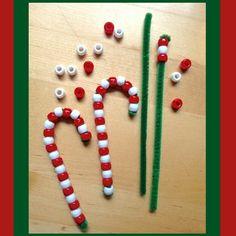 #Manualidades para #Navidad, #Adornos de #Bastones de #Caramelo...  Vía @Candidman