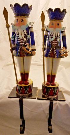 Ceramic Farm House Stocking Holder NWT Cream White Houses Fireplace Mantle Hooks