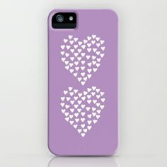 Hearts Heart x2 Radiant Orchid iPhone & iPod Case by Project M - $35.00