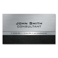 Professional Elegant Modern Silver Black Metal Business Cards. I love this design! It is available for customization or ready to buy as is. All you need is to add your business info to this template then place the order. It will ship within 24 hours. Just click the image to make your own!