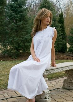 cotton nightgowns victorian | In Stitches, Victorian Nightgowns - Emma Night Dress