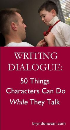 Help your reader visualize the scene, open up new possibilities for body language, and express character through action. || Writing Dialogue: 50 Things Characters Can Do WHILE They Talk #nanowrimo #how to write a novel Writer Tips, Book Writing Tips, Writing Words, Fiction Writing, Writing Quotes, Writing Resources, Writing Help, Writing Skills, Writing Prompts