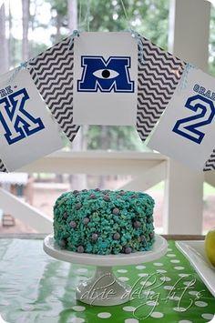 Monsters University Sully Rice Krispie Treat Cake