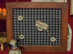 Colonial Brown Large Primitive Magnet Board  by TwoTimestheCrazy, $36.00