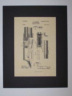 Browning Automatic Firearm 1901 sheet 3 Patent drawing HistoricPatentArt.com Gun