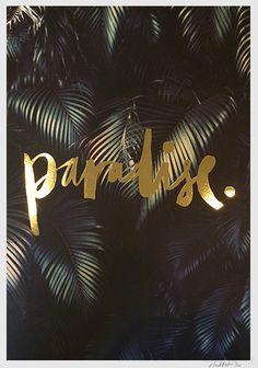 Paradise Print - Black List from Ahoy Trader