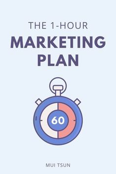 GOT ONE HOUR TO SPARE? The 1-Hour Marketing Plan is designed to help you gain focus and clarity, eliminate marketing overwhelm, and put an action plan in place, all in less than an hour! // Mui Tsun -- #onlinemarketing