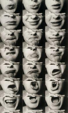 Kurt Kranz, Mund-Reihen (Mouth rows), 1931, Ingrid Kranz / Stiftung Bauhaus Dessau