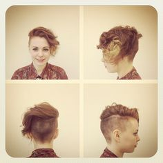 shaved undercut long wavy side swept