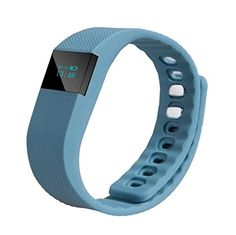 Fitness Tracker Bluetooth LED Smartband Sport Bracelet Smart Band Wristband Pedometer for iPhone66s55s IOS Android Sumsung S6 Deep BLue -- More info could be found at the image url.