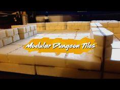 (815) Tokrak Crafts - Modular Dungeon Tiles #001 - YouTube Dungeon Tiles, Wargaming Terrain, Youtube, Crafts, Manualidades, Handmade Crafts, Craft, Arts And Crafts, Youtubers