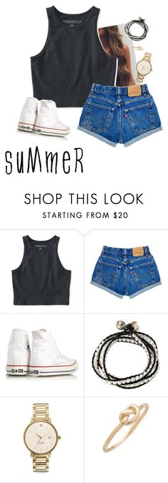 """""""SuMmeR"""" by mallory-d ❤ liked on Polyvore featuring Aéropostale, Converse, NOVICA, Kate Spade and Ariel Gordon"""