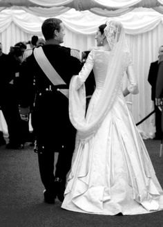 Wedding day of Crown Princess Mary and Crown Prince Frederik of Denmark in May 2004.
