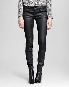 The Kooples Jeans - Faux Leather in Black