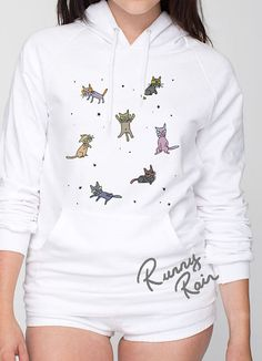 Crazy Cat Hoodie by RunnyRain on Etsy