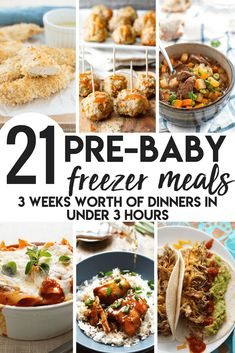 Pre-Baby Meal Prep- 21 Freezer Meals to Make Pre-Baby Meal Pre. - Pre-Baby Meal Prep- 21 Freezer Meals to Make Pre-Baby Meal Prep- 21 Freezer Meals - Make Ahead Freezer Meals, Freezer Cooking, Meal Prep Freezer, Freezer Meal Recipes, Freezer Meal Party, Freezer Dinner, Crock Pot Freezer, Healthy Crockpot Freezer Meals, Easy Freezable Meals