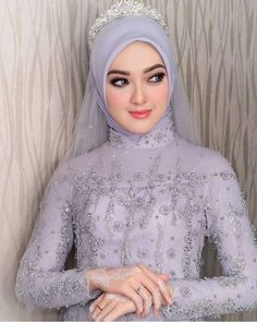 Inspired by Wedding Day Weddings Your Big Day Hijabi Wedding, Wedding Hijab Styles, Kebaya Wedding, Muslimah Wedding Dress, Hijab Style Dress, Muslim Wedding Dresses, Hijab Bride, Muslim Brides, Wedding Poses