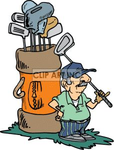 Funny Golf Clip Art Free | Royalty-Free Funny little man playing ...