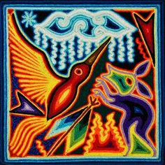 Huichol yarn painting | Fibers / Weaving Lessons | Pinterest ...