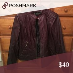 Guess leather jacket Size large worn only a few times GUESS Jackets & Coats