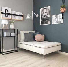 Grey Walls Living Room, Bedroom Wall Colors, Grey Room, Paint Colors For Living Room, Home Living Room, Office Wall Colors, Woman Bedroom, My New Room, Interior Design