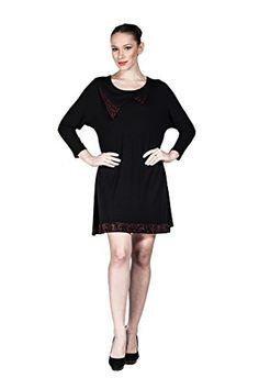 Women's Loose Party Cocktail Mini Dress with Red Rhinestones (Black) LuckyBEBE http://www.amazon.com/dp/B01E3FWWXK/ref=cm_sw_r_pi_dp_3-8cxb0GE0E45