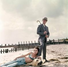 Mrs Emma Peel and Major John Steed (brilliantly portrayed by Diana Rigg and Patrick Macnee) in 'The Avengers' 1965