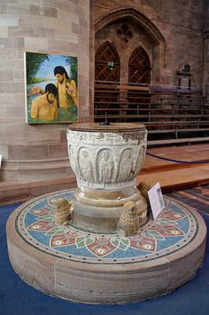 The Font    Hereford Cathedral - I was christened here!