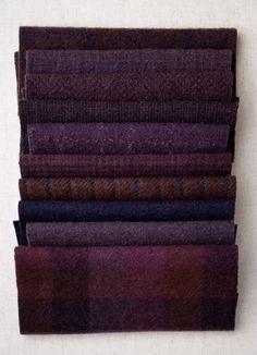 Mary Flanagan Mini Textured Felted Wool Bundles Blackberry