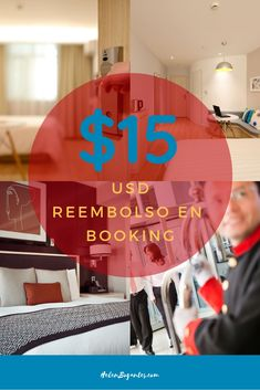 $15USD Reembolso en Booking Blog, Viajes, Blogging
