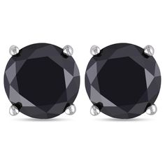 14k Gold Black Diamond Stud Earrings (From 1/5ct to 2 cttw)