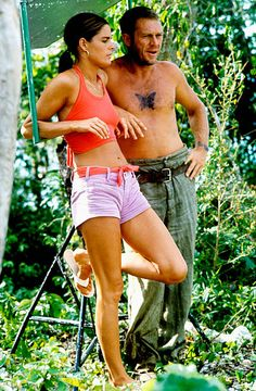 Steve McQueen & second wife, Ali MacGraw. (Steve McQueen is a cad but the tat is sweet)