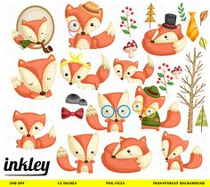 Girls Jungle Animals Digital Clipart Set 02 Personal and Commercial Use-paper crafts,card making,scrapbooking