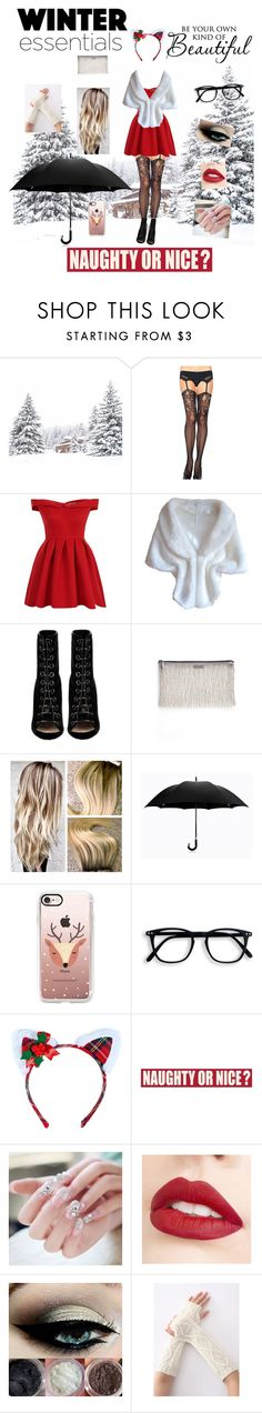 """""""Winter"""" by bulletproof-wolfie on Polyvore featuring Chicnova Fashion, Chi Chi, Barbara Bui, Chilewich, Davek, Casetify, Leg Avenue, Sixtrees and Jouer"""