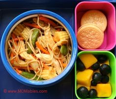 We are what we eat! - chow mien chicken organic cookies fruit #kidsrecipes