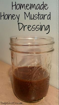 Homemade Honey Mustard Dressing Gluten - free, EXTREMELY frugal to make! Perfect for a salad or marinade for chicken. Best Gluten Free Recipes, New Recipes, Cooking Recipes, Favorite Recipes, Icing Recipes, Cooking Tips, Crock Pot Vegetables, Honey Mustard Dressing, Homemade Honey Mustard
