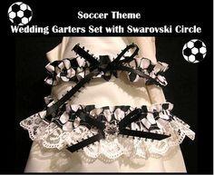 SPORT SOCCER Wedding GARTER 2PC GARTERS SET PROM by vvngifttrendy, $14.95