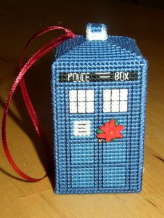 TARDIS Christmas tree ornament