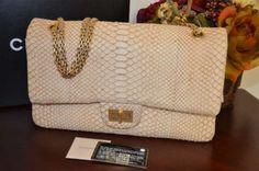 Bnwot Chanel Reissue 227 Python Beige Gold Hw Shoulder Bag $7,050
