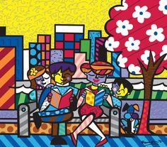 Original painting by the Brazilian artist Romero Britto - Paris Art Web Paris Kunst, Paris Art, Absolut Vodka, Arte Pop, Graffiti Painting, Graffiti Art, Pop Art, Arte Country, Art Web