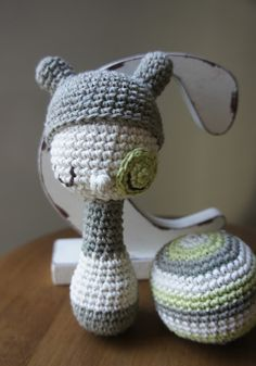 { Crochet Rattle + ball by Amour Fou }